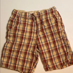 Red Camel plaid shorts